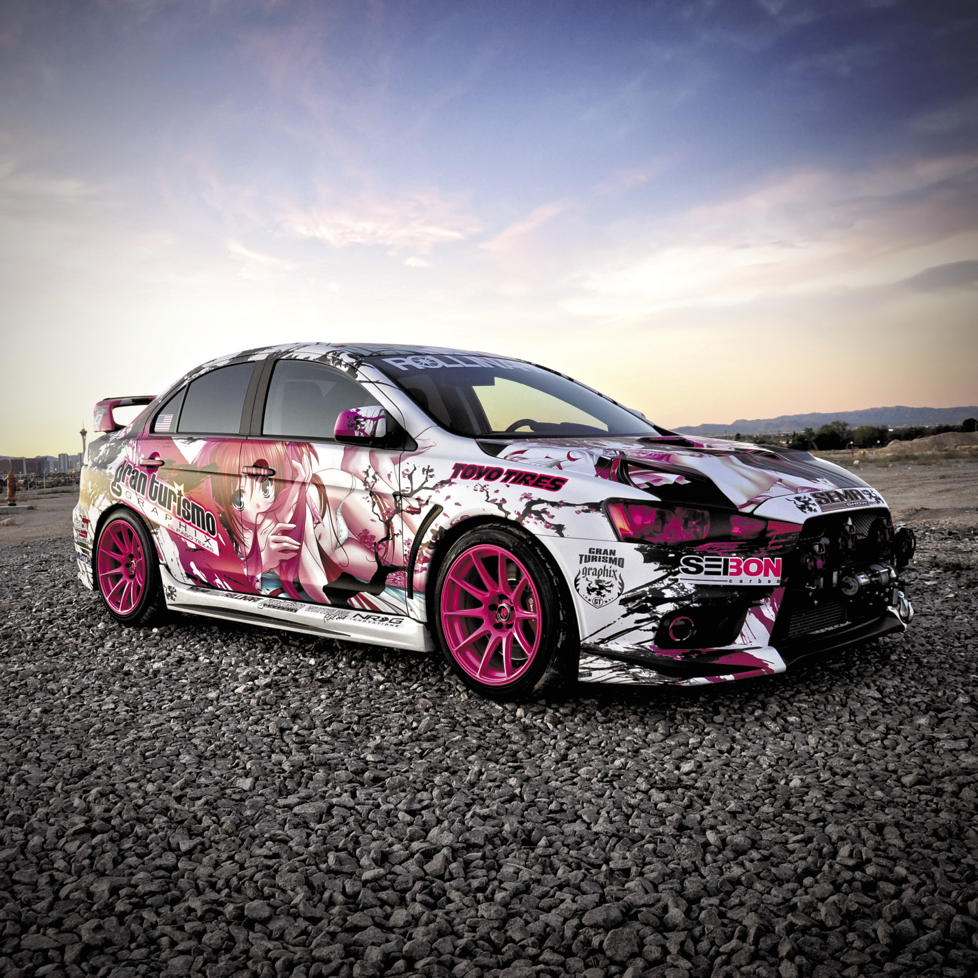 Mitsubishi Lancer Tuner: PERFORMANCE AUTO AND SOUND - Pretty In Pink
