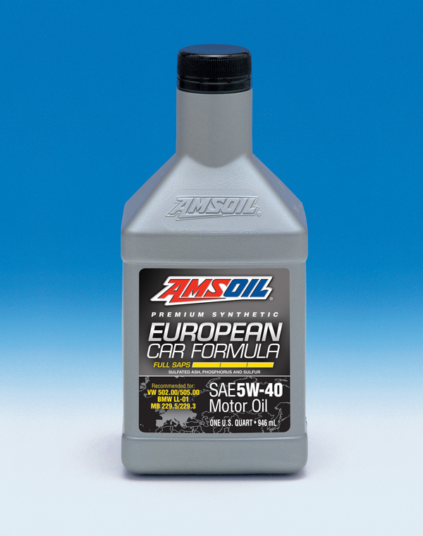 New 5W-40 Full-SAPS Synthetic Motor Oil Completes European Car Formula Lineup