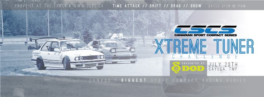 PASMAG CSCS Race 3 Toronto Motorsports Park Cayuga Ontario July 20 2014 Time Attack Drift Drag Show Flyer