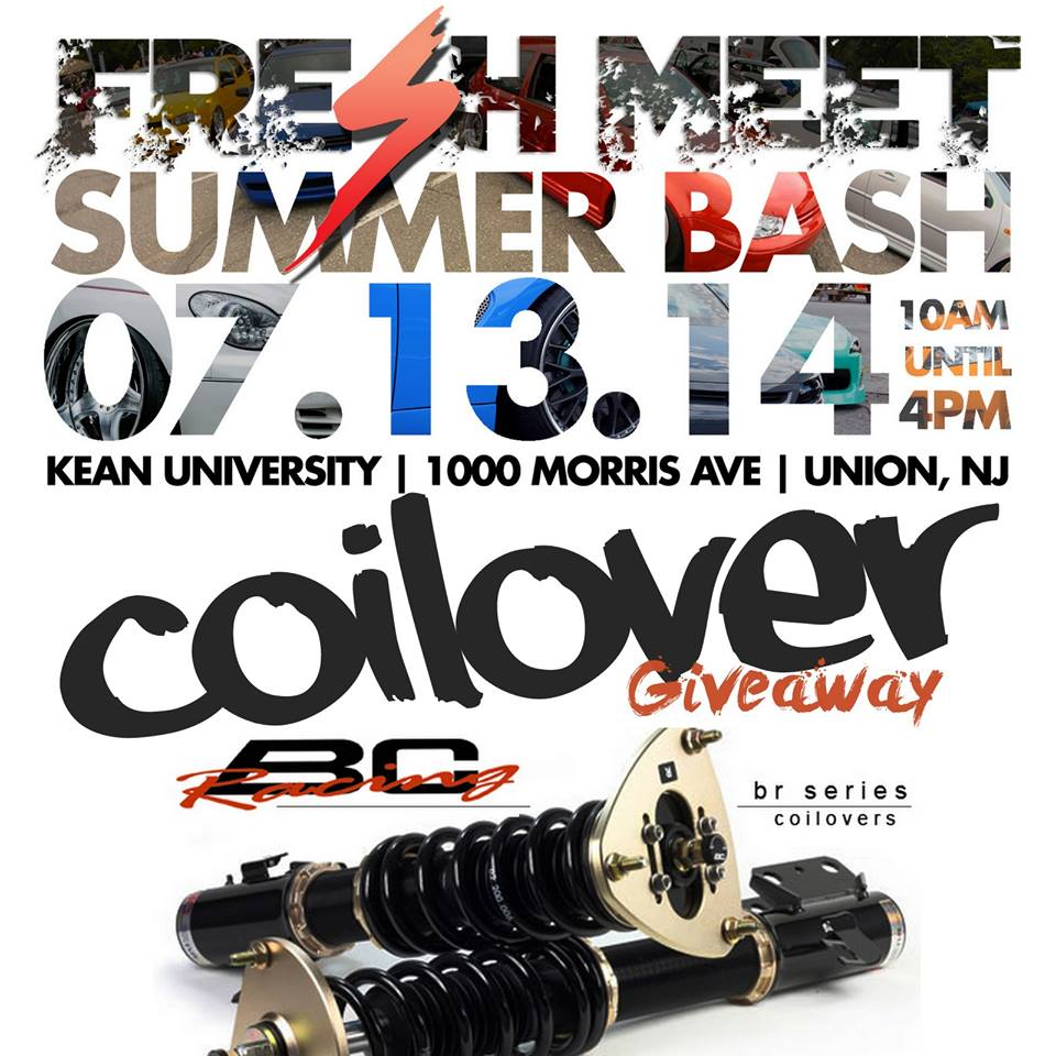 PASMAG Fresh Meet Summer Bash Union New Jersey July 13 2014 Event Photo Calendar BC Racing Coilover Giveaway