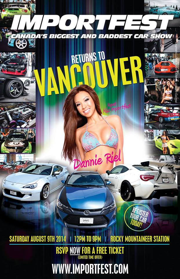 PASMAG Importfest Vancouver Rocky Mountaineer Station August 9 2014 Event Show Calendar Schedule Flyer Dannie Riel