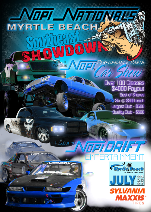 PASMAG NOPI Nationals Myrtle Beach Speedway South Carolina July 25 26 27 2014 Flyer