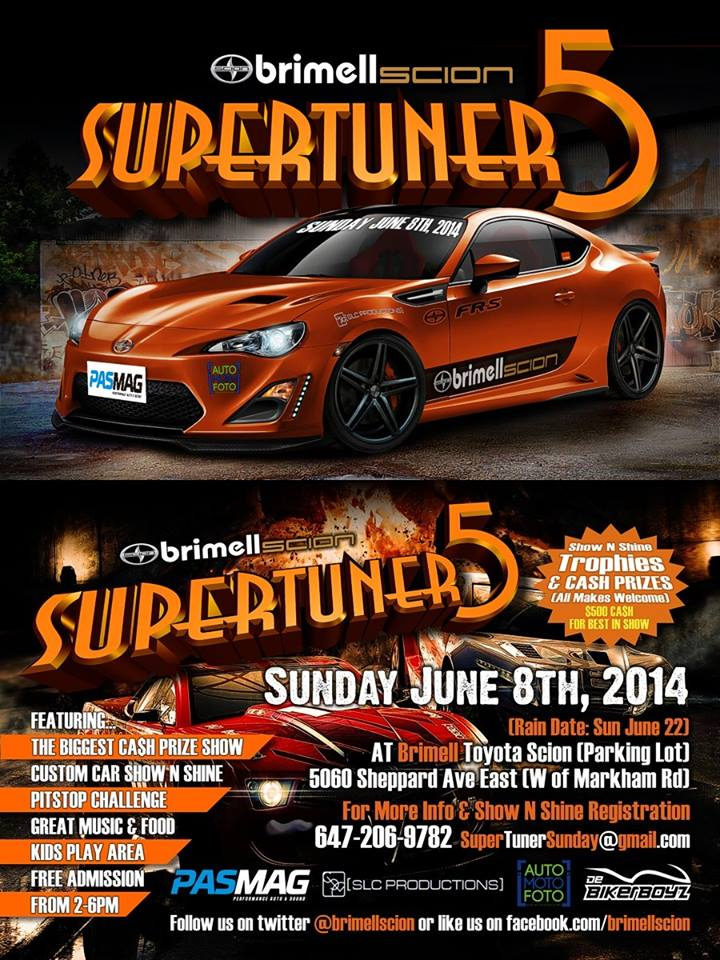 PASMAG Super Tuner 5 Show Brimel Toyota Scion Scarborough Flyer