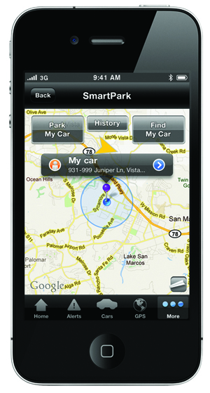 SmartStart GPS Screen