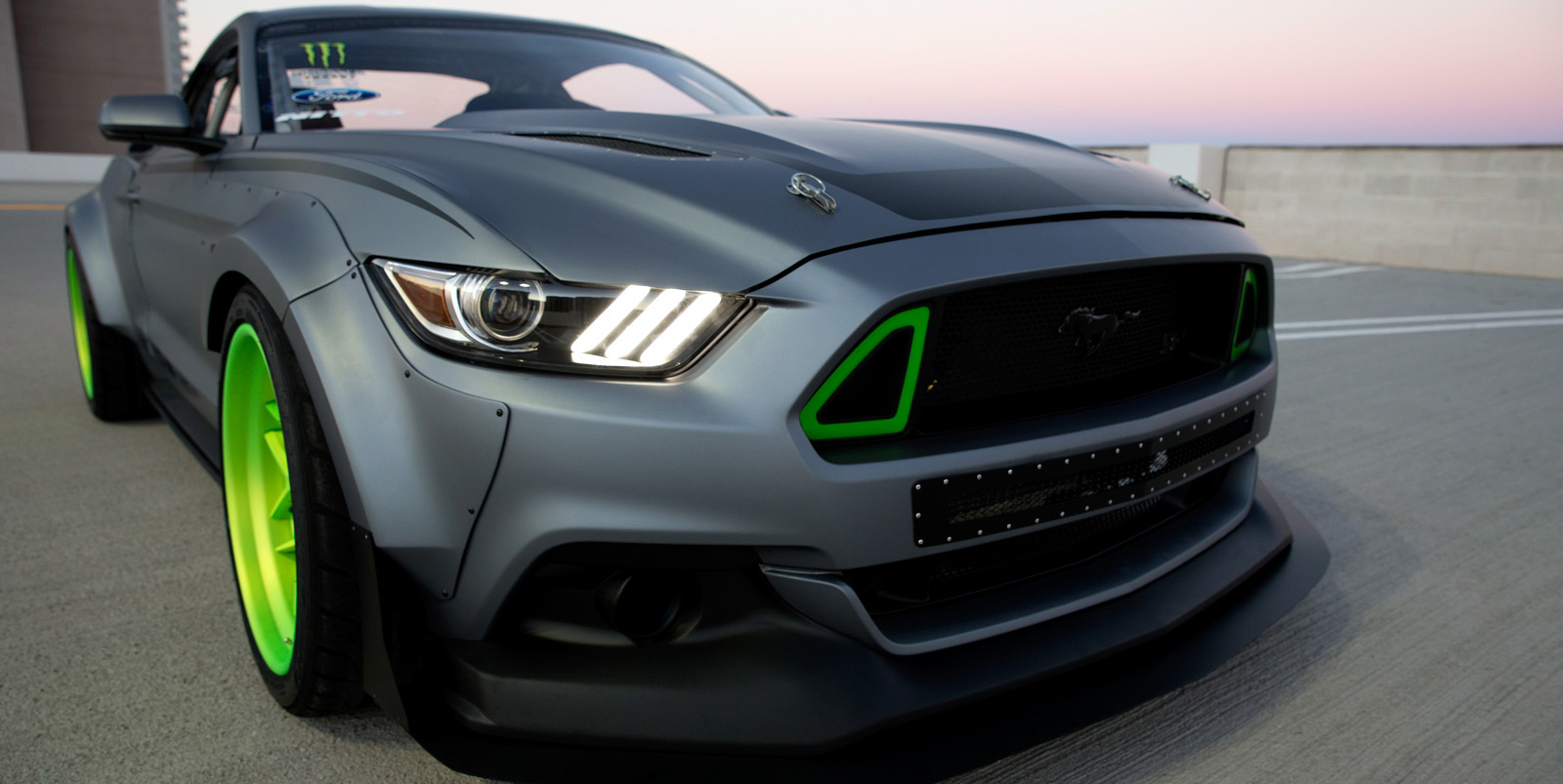 PASMAG Feature Feb-Mar 2015 Vaughn Gittin Jr Ford Mustang Spec 5 Concept HRE front close