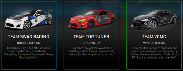 Vote for your favourite Scion Tuner Challenge Team