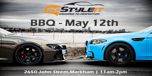 Restyle IT BBQ & Car Show May 12th