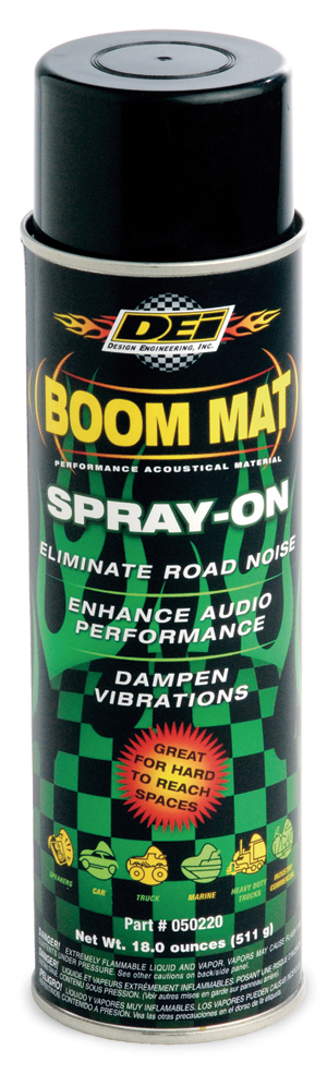 Boom Mat Spray-On Eliminates Squeaks, Rattles and Vibration