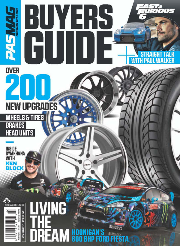 Check out PASMAG Wheel and Tire Guide Issue for an In-Depth look of the Hoonigan Ford Fiesta and exclusive interview with Ken Block. Out on newsstand May 1st 2013.