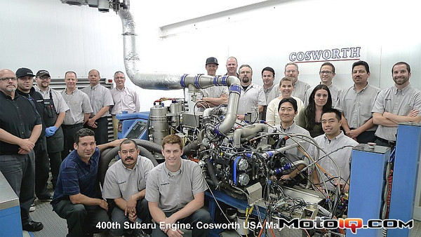 Cosworth's 400th Subaru Engine