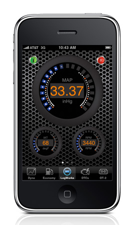 The Gauge Mode displays everything the OBD computer reads like boost, voltage, temperatures, RPM, speed and more all on your phone. There are over 20 OBDII parameters to choose from and you can display up to eight at a time.