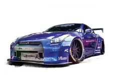 Liberty Walk Nissan GT-R Widebody Kit