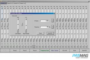 A 30-band fully parametric equalizer is available for each pair of channels. The tuning capabilities are mind boggling.