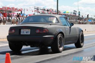 PASMAG Trending Respect the Roadster Mazda Miata MX5 Drag Race Chad Donohoe