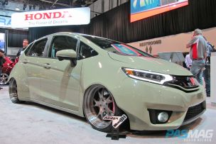SEMA 2014 Las Vegas Honda Fit Challenge Tjin Edition front-side