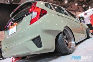 SEMA 2014 Las Vegas Honda Fit Challenge Tjin Edition rear low