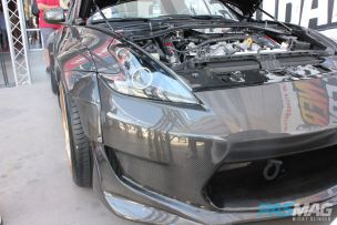 PASMAG Tuner Battlegrounds 2014 Battle for SEMA Moses Awad Nissan 370Z Carbon Signal Moonbeam Widebody