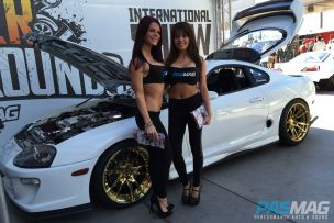 PASMAG Tuner Battlegrounds 2014 Battle for SEMA Tiffany Mikayla Tracy Nova Supra