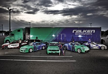 The top brass at Falken understood that shredding up tires in drift competition would equate to better sales and priceless brand exposure. They also figured out supporting a sport enthusiasts love translates to respect among tuners and quickly lead to fans considering their brand when shopping for tires from Falken's massive applications list.