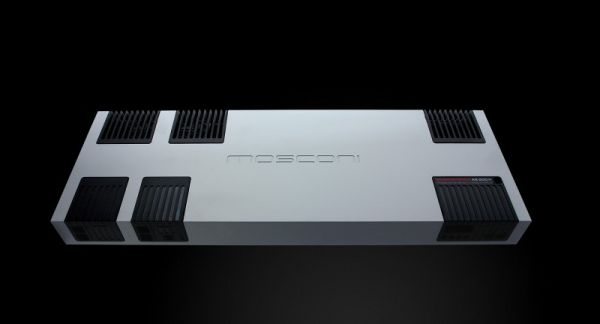 The Mosconi AS200.4 is a moderately large Class AB four channel amplifier. Rated at 200x4 into 4 ohms, and 320 x4 into 2 ohms, the Mosconi amp is also capable of driving 1 ohm stereo loads, or 2 ohm bridged mono loads.