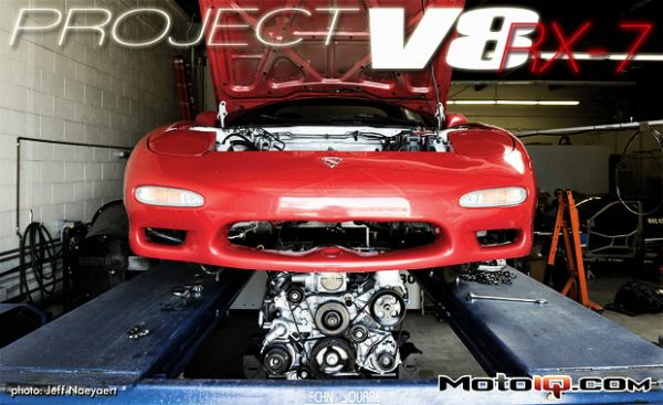 Project V8 RX-7: Part VI - Installing the E-Rod LS3