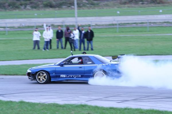 As the smoke cleared, Jon Fiddy's Skyline GTR edged Chris De La Cruz's BMW for 3rd place.