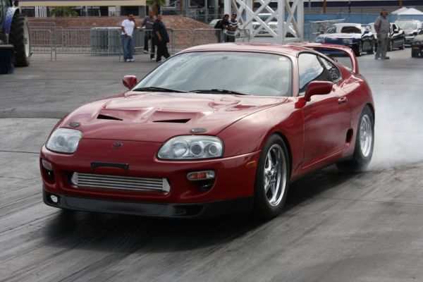 The Forced Induction Pro class was dominated by an army of Toyota Supra drivers attending the 14th annual Supras Invade Las Vegas event which coincided with the IFO show.