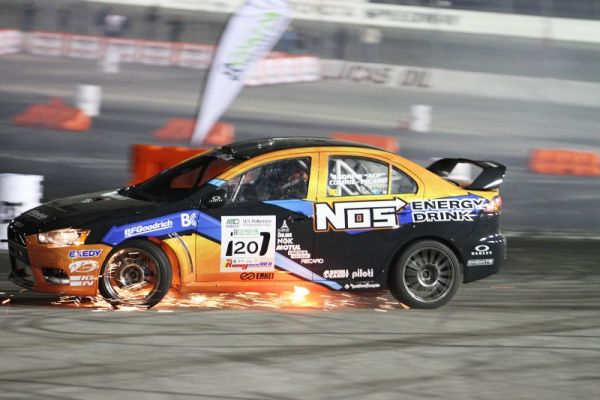 ACP in the NOS EVO throwin' some sparks!