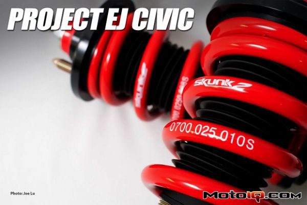 Moto IQ: Project EJ Honda Civic: Skunk2 Pro-C Coilovers