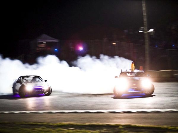 The Autodrome Montmagny in Montmagny, Quebec  was the site for the 4th round of DMCC action in the East. Is their anything better than a full day of all out drifting? Yes, there is and it's called NIGHT DRIFTING at Round-4 of the Eastern DMCC Castrol Edge Championship being held at the Montmagny Autodrome near Quebec City.