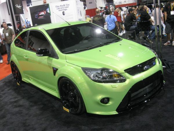 Repping the Sub-Compacts was this Focus RS with loads of Ford Racing gear