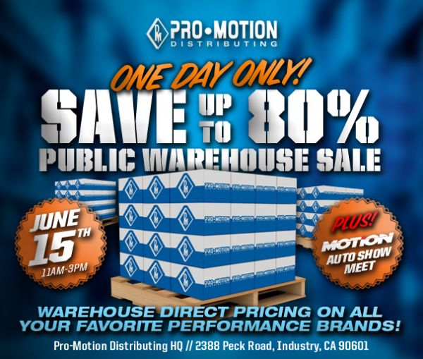 PMD Announces One Day Warehouse Sale