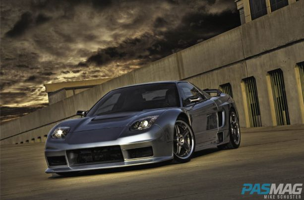 PASMAG Ron Warnick 1991 Acura NSX CompTech AEM Volk Racing Bridgestone Brembo JDM JL Audio Alpine Kinetic lead