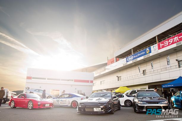 HKS Premium Day 2015 PASMAG Paddock Sunset Garage Mak S15 and S13 plus FD3S RX 7 and ZN6 Toyota 86