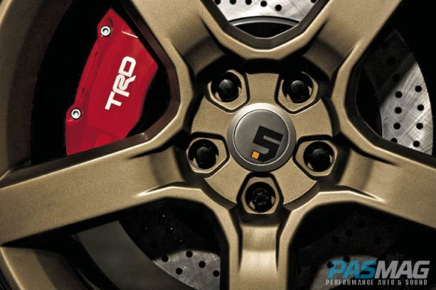 pasmag sony 2011 scion tc sony trd big brake kit