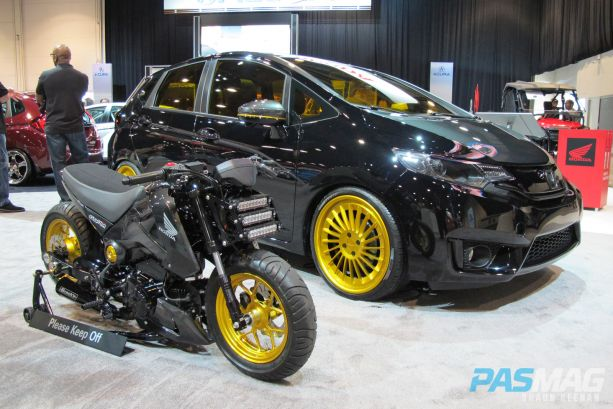 SEMA 2014 Las Vegas Honda Fit Challenge MAD Industries side bike