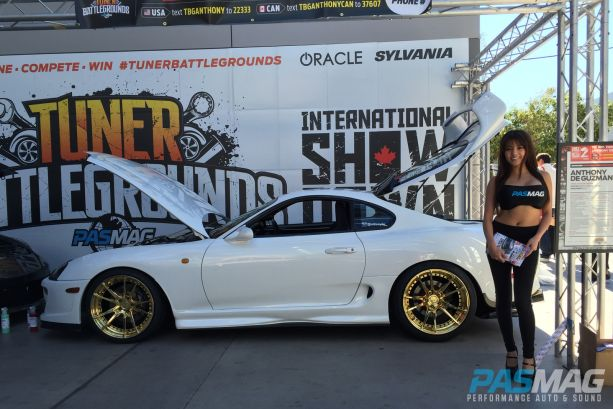 PASMAG Tuner Battlegrounds 2014 Battle for SEMA Tracy Nova Toyota Supra Anthony De Guzman