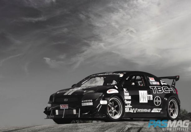 PASMAG World Racing 2007 Scion tC Chris Rado Auto Explosions Fender Kit Kaminari APR front