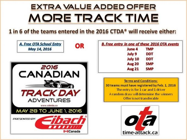 CASC OR Ontario Time Attack more track time offer