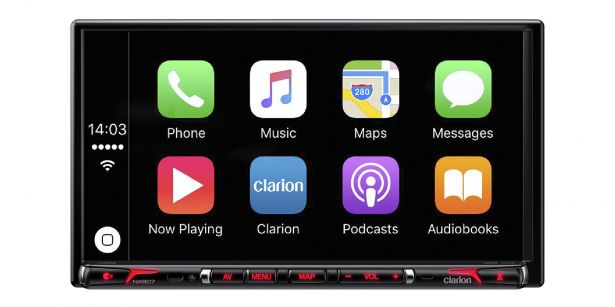 Clarion NX807 with CarPlay