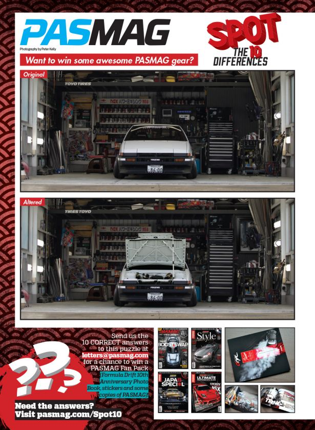 Japan Book 3 JDM Spot The Differences SPOT10 PASMAG