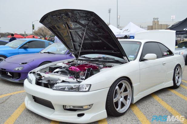 PASMAG Cupcake Meet 19 2014 Grand Prairie Texas Anthony Guerra Aubre Nissan 240SX Engine