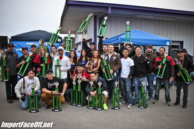 PASMAG - Import Face-Off In Baytown TX On Feb 9 2014 - Winners List With Trophies