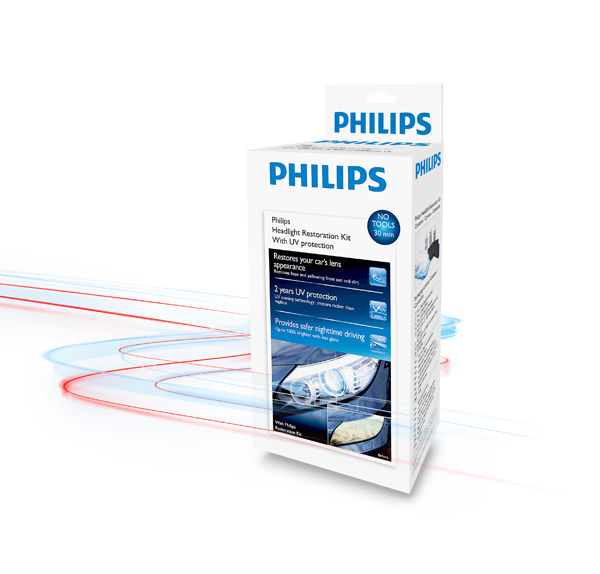 Philips Headlight Restoration Kit Reconditions Lenses To Like-New Condition