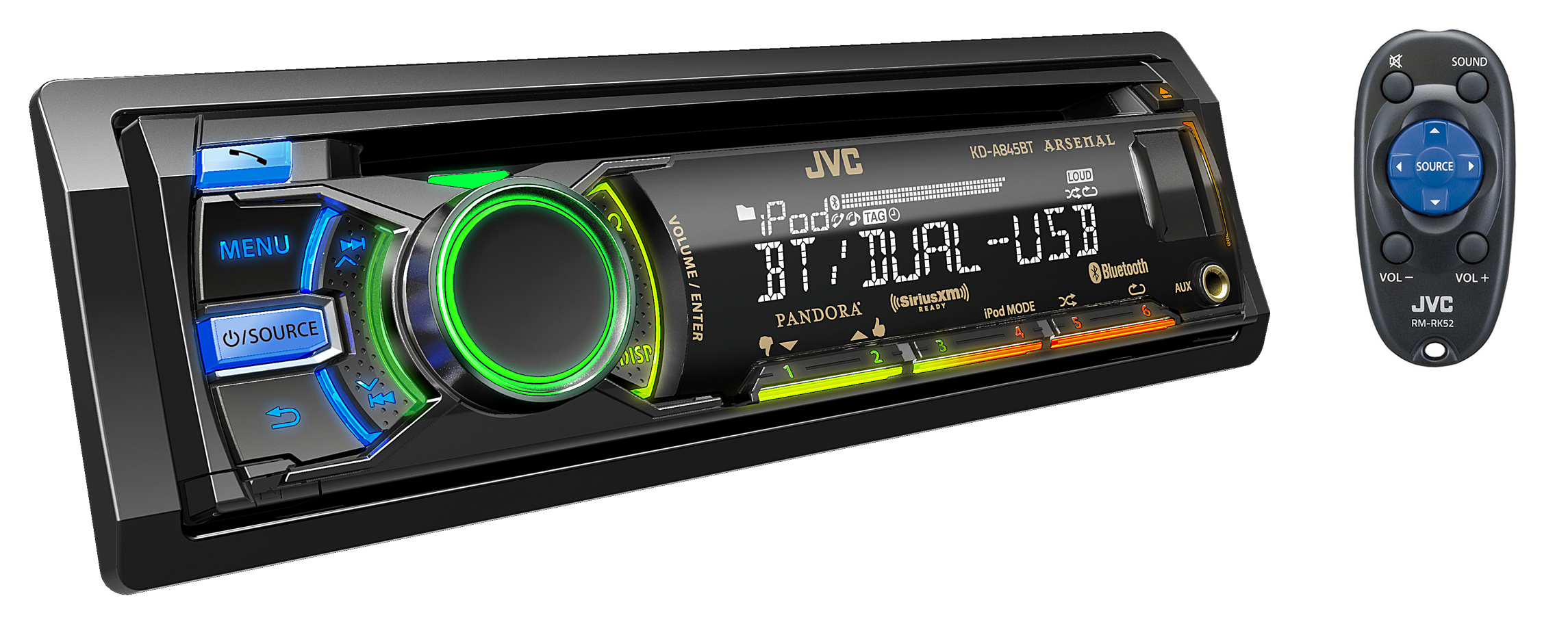 jvc kd a845bt cd receiver pasmag since 1999. Black Bedroom Furniture Sets. Home Design Ideas