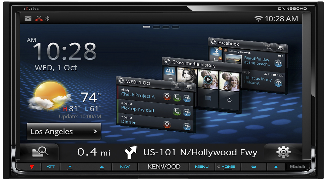 Kenwood Delivers Industry's Most Advanced Wifi-Embedded In-Dash Audio/Video Connected Receivers