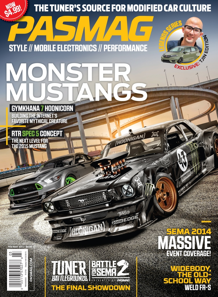 PASMAG Feb-Mar 2015 Cover Ken Block Hoonicorn 1965 Ford Mustang LR