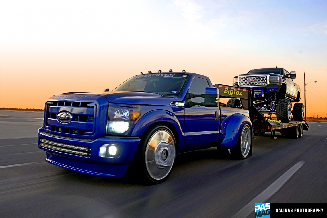 Lifted Gmc Denali >> Blackjack: Cesar Olivas' 2016 GMC Sierra Denali HD & Custom Ford F-350 - PASMAG - since 1999 ...