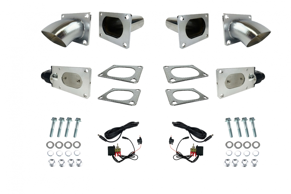 "Granatelli Motor Sports 3"" Oval Electronic Exhaust Cutout System"