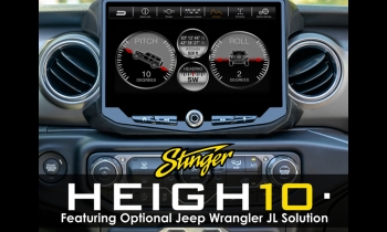 Stinger Electronics Introduces 10-Inch Floating Display Infotainment Hub, The Heigh10 at CES 2020
